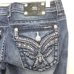 Miss Me Empire Embroidered Boot Cut Jean's Sz 28